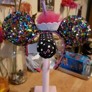 Disney birthday cupcake ears headband